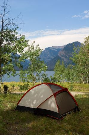 Camping On Jackson Lake Grand Teton National Park